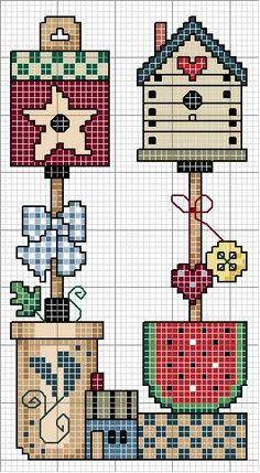Country cross stitch chart