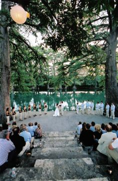 Waldemar wedding by the Guad. So fun!... But can I have a wedding at mystic instead?