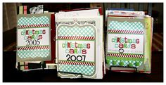 Christmas Card Books.....Now I know what to do with Christmas cards we receive....love this idea!