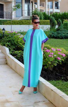 Mint Maxi Dress, Cotton Knit Caftan Dress, Plus Size Dress, Abaya Dress, Plus… African Attire, African Wear, African Fashion Dresses, African Dress, Mint Maxi Dresses, Summer Dresses, Dress Plus Size, Plus Size Outfits, Plus Size Kleidung