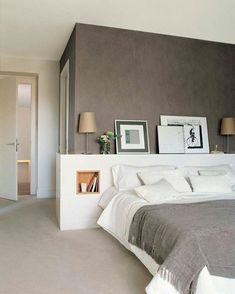 taupe walls chic interior in the bedroom beige carpet - chic slee . taupe walls chic interior in the bedroom beige carpet – chic bedroom – the Home Bedroom, Master Bedroom, Bedroom Decor, Gray Bedroom, Bedroom Ideas, Contemporary Bedroom, Modern Bedroom, Eclectic Bedrooms, Contemporary Kitchens