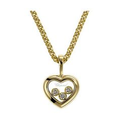 Pendentif Happy Diamonds   Le pendentif Happy Diamonds présente une magnifique ligne en or jaune 18 carats et diamants. Une sublime création joaillère, de...