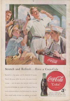 1948 Coke Coca Cola Soda Magazine Ad Stretch & Refreshed