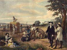 """George Washington y un burro español, los """"padres"""" de la mula estadounidense"""