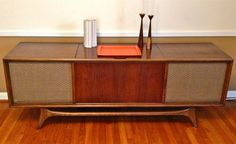 Vintage Mid Century Modern Retro Solid State Stereo Console Credenza by RCA on Etsy, $800.00