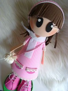 Muñeca fofucha de goma eva - Foami doll