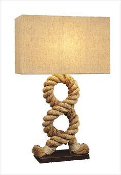 Sailor rope lamp