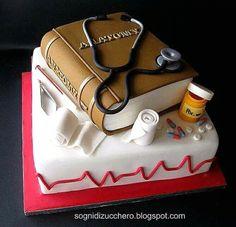 Cake Decorating Tutorials (How To's) Fancy Cakes, Cute Cakes, Fondant Cakes, Cupcake Cakes, Bolo Original, Medical Cake, Decors Pate A Sucre, Doctor Cake, Book Cakes
