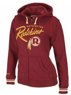 b08c0d0aa Cheap Mitchell Ness Washington Redskins Womens Full Zip Hooded Sweatshirt  new - Introducing the latest in musthave NFL team fashion This flattering  Mitchell ...