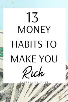 13 money habits to make you rich. The best money mindset tips to help you save money. Money Tips, Money Saving Tips, Money Saving Challenge, Words Of Wisdom Quotes, Life Plan, Motivational Words, The Hard Way, Mindful Living, Mindset
