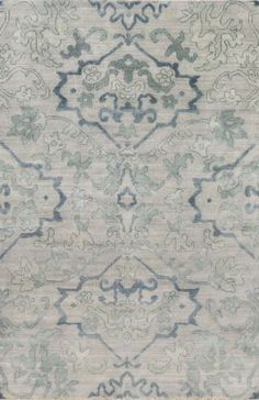 Traditional motifs in pastel hues make up this Hillcrest rug from Surya (HIL-9036).