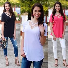 SNEAK PEEK!! New Arrivals will be in the shop Tuesday night at 9pm EST and ladies, believe me when I tell you they're soooo good!❤From Easter dresses to New Must-Have jeans and sandals to these cute cross-cross tops...you won't want to miss it. #thatsapromise Set those alarms!!⏰ #piperstreet #piperstreetshop