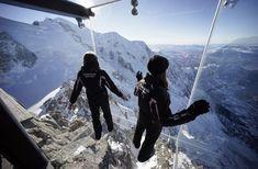 'Step into the Void' installation, Aiguille du Midi mountain peak, Chamonix, FR