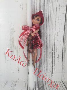 Red Riding Hood Doll Greek Easter Candle Lambada