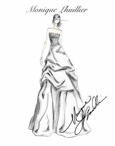 Love these Monique Lhuillier sketches...