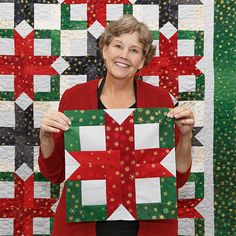 Christmas Quilting Projects, Christmas Quilt Patterns, Christmas Present Quilt Block Pattern, Christmas Crafts, Jelly Roll Quilt Patterns, Star Quilt Patterns, Block Patterns, Star Quilt Blocks, Star Quilts