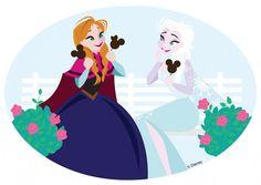 #Disneyside Doodle  Anna and Elsa's Frozen Treats Ashley Taylor