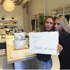 Olsens Anonymous Blog Mary Kate And Ashley Olsen Twins Style LA Elizabeth And James Store Opening Wavy Hair Satin Blazer Jeans