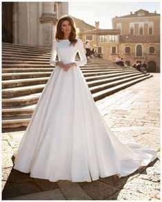 50+ Wedding Dresses with Long Sleeves for Every Bride to Stand Out » GALA Fashion Wedding Dress Trends, Long Wedding Dresses, Princess Wedding Dresses, Dress Wedding, Wedding Ideas, Bridal Gown, Satin Wedding Dresses, Mermaid Wedding Gowns, Mormon Wedding Dresses