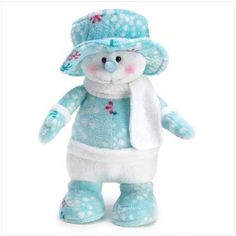 Snowman Plush Pal Christmas Holiday Snow Man Figurine * You can get additional details at