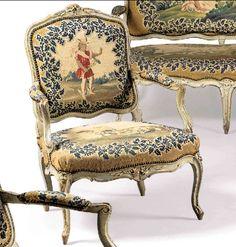 Mobilier De Salon d'époque Louis XV, Galerie Pellat de Villedon, Proantic
