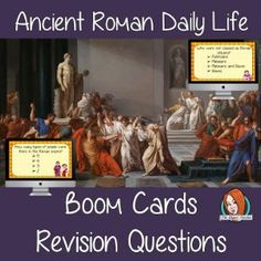 Roman Daily Life Revision Questions This deck revises children's knowledge of Roman Daily Life. There are multiple choice revision questions to check children's understanding.