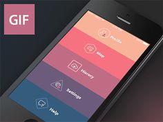 ダイナミックな動きが魅力的!GIFアニメーション付モバイルUIデザインまとめ http://photoshopvip.net/archives/62742