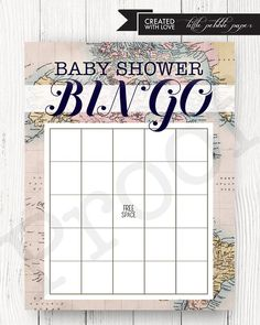 Welcome to the World Baby Shower Gender Neutral Bingo Game Printable  Included in purchase: 8.5x11 PDF, instant download JPEG, instant download