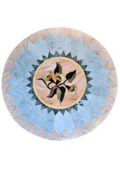 mosaici in marmo per ripiani  tavoli o rosoni per pavimenti lavorati artigianalmente a mano vasta scelta in varie misure