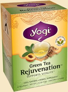 Yogi Tea Green Tea Rejuvenation™ | Relax, renew and enjoy a cup of our smooth and delicious Green Tea Rejuvenation. This blend is purposefully formulated to support vitality and supply antioxidants with Organic Green Tea and Cat's Claw–revered for centuries by the Ashanica Indians of Peru as a healing and rejuvenative herb. Lemongrass and Spearmint impart lively and refreshing notes, while natural Peach flavor adds a light fruity sweetness. So, when you want a boost, relax and rejuvenate…