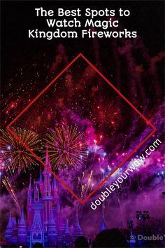 Find the best spots to catch fireworks at Disney World's Magic Kingdom. Disney | Disney World | Walt Disney World | Disney tips and tricks | Disney fireworks | Disney vacation | Vacation planning | Magic Kingdom Magic Kingdom Fireworks, Magic Kingdom Food, Magic Kingdom Rides, Disney Fireworks, Disney World Magic Kingdom, Disney World Parks, Disney World Planning, Disney World Resorts, Disney Vacations