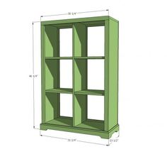 6 cubby storage unit from Ana White. We'll make ours with all straight sides so it can lay horizontally. Maybe 8 cubes? http://ana-white.com/2012/03/plans/6-cubby-bookshelf