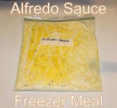 Alfredo Sauce Freezer Meal