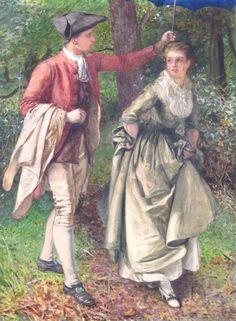 Edward Killingworth Johnson (1825 - 1896) - A slight shower♥