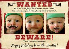 Custom Family Child Photo Christmas Holiday Card
