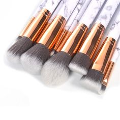 LUXE B Marble Makeup Brushes Set
