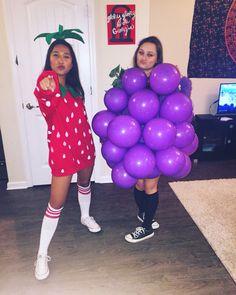 diy halloween fruit costumes for girls