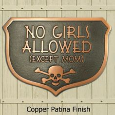 No Girls Allowed Plaque Custom for you by by AtlasSignsAndPlaques, $85.00