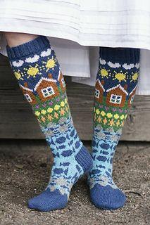Fair Isle Knitting, Loom Knitting, Knitting Socks, Free Knitting, Knitting Patterns, Knitting Tutorials, Stitch Patterns, Aran Weight Yarn, Wool Socks