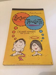 Paula Presents Secret Thoughts note pad. Date on front says 1972. Has 22 of the original 24 pages. Some wear the the cover and it looks like some ink spilled on the bottom. Pages unused.