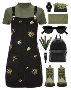 """Don't Wanna Cry"" by tania-maria ❤ liked on Polyvore featuring Miss Selfridge, Dr. Martens, Topshop, French Connection, Sir/Madam, Make, Lux-Art Silks and Alessi"
