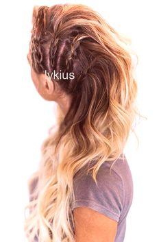 haar laagjes #haar #hair Side Triple Braids Lagertha Style #braids Lagertha, Cut Her Hair, Braids, Long Hair Styles, Beauty, Bang Braids, Cornrows, Braid Hairstyles, Long Hairstyle