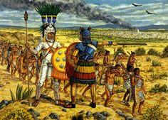 """""""An Aztec invasion column divides (AD 1450)"""", Adam Hook"""