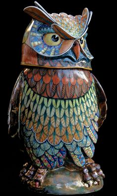 Owl 6 - David Burnham Smith - Master Ceramic Artist