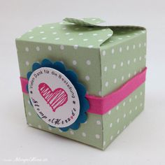 Stampin Up - Stempelherz - Box - Verpackung - Spruchreif - Anleitung - Envelope Punchboard - Box Vielen Dank 01