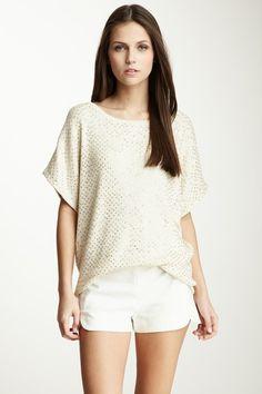 Dolman Silk Blend Sequin Sweatshirt on HauteLook
