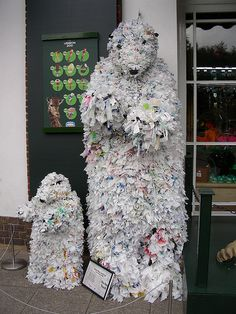 Polar Bears Main Recycled Materials: Plastic Bags Artist: Tone Holmen
