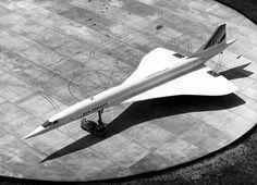 """""""Le bel oiseau blanc"""" ... Le concorde , Air France ! 1975."""