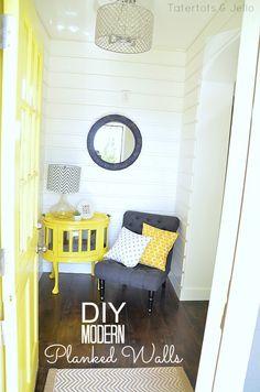 DIY Modern Planked Walls at Tatertots and Jello- Entry!