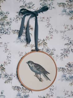 Sparrow Hoop Wall Panel by Kettle of Fish